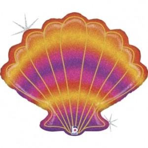 "Balão Concha Glitter 30"" / 76cm Grabo"