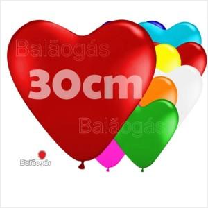 10 Balões Coração 30cm