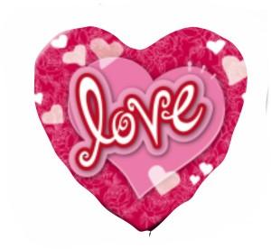 Coração Foil 40cm Ref: Love 1