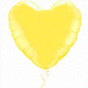 Coração Foil 45cm Amarelo