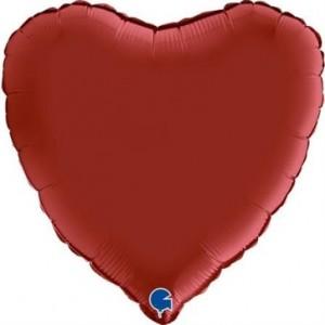 Balão Coração Cetim 46cm Cereja