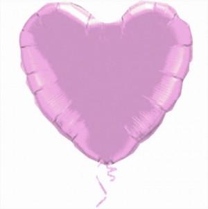 Coração Foil 45cm Lilás