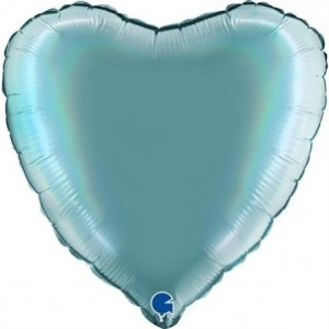 Balão Coração Platina 46cm Tenerife Sea
