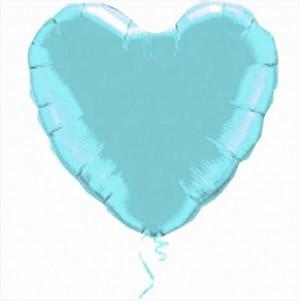 Coração Foil 45cm Tiffany