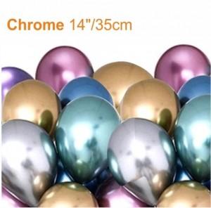 """25 Balões NOVO Cromado 14""""/35cm"""