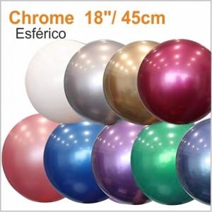 1 Balão Cromado Esférico 45cm