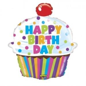 Balão foil Cupcake Brilhante 79cm