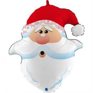 Balão Cabeça Pai Natal Curioso 66cm