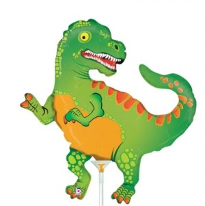 Balão Foil Mini Dinosauro 35Cm Grabo