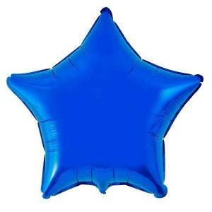 Estrela Foil 45cm Azul