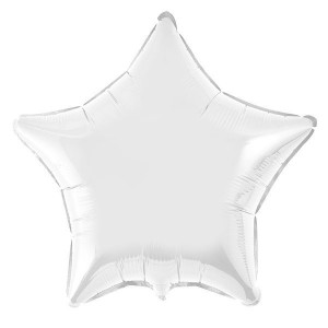 Estrela Foil 45cm Branca
