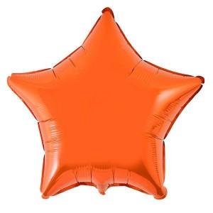 Estrela Foil 45cm Laranja
