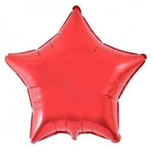 Estrela Foil 45cm Vermelha