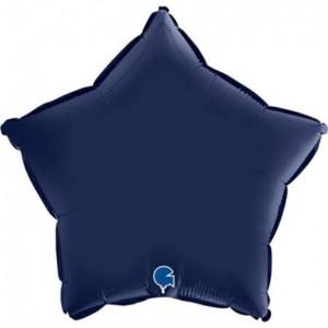 Balão Estrela Cetim 46cm Azul Marinho