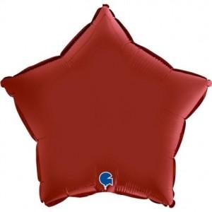 Balão Estrela Cetim 46cm Cereja
