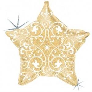 Estrela Foil  Filigrana 53cm Ouro