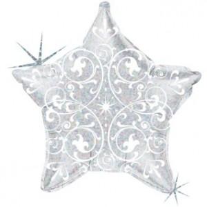 Estrela Foil  Filigrana 53cm Prata