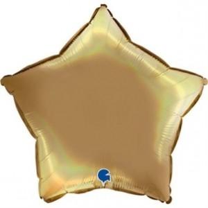 Balão Estrela Platina 46cm Champanhe