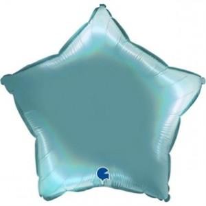 Balão Estrela Platina 46cm Tenerife Sea
