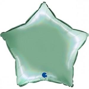 Balão Estrela Platina 46cm Tiffany
