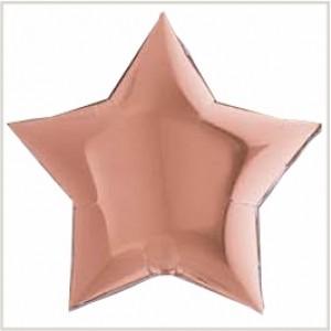 Estrela Foil 40cm Rosa Gold