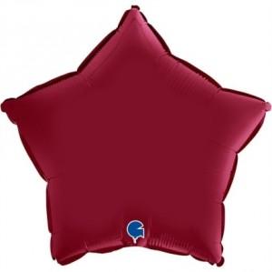 Balão Estrela Cetim 46cm Ruby