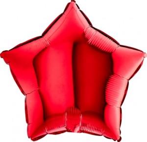 Estrela Foil 40cm Vermelha