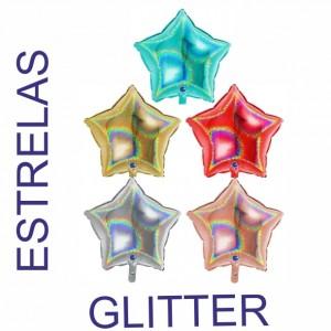 Estrelas Foil 45cm GLITTER