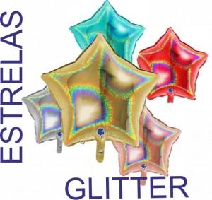 Estrelas Gigante Glitter Foil 90cm