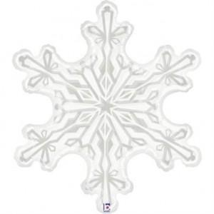 """Balão Floco de Neve Transparente 38""""/ 97cm Grabo"""