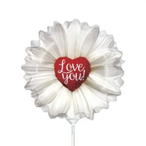 Balão Mini Flor Margarida 35Cm