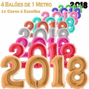 4 Balões Números Gigantes 2018
