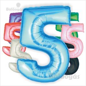 Balões Número 5 Foil Gigante