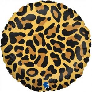 Balão Foil Mancha Leopardo 46cm Grabo
