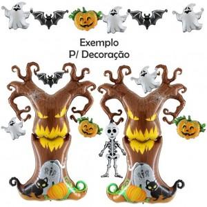 Balão Esqueleto Halloween Foil 74cm