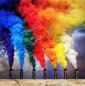 Fumo colorido de 60 segundos