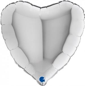 Coração Foil 45cm Prateado Grabo