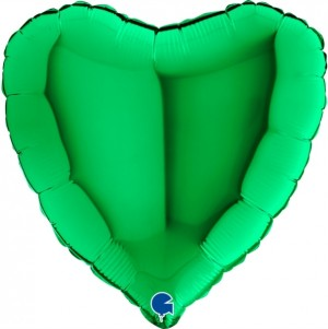 Coração Foil 45cm Verde Grabo