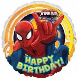 Balão Foil Homem Aranha Happy Birthday 43cm