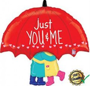 Balão foil Guarda Chuva Just You & Me 84cm
