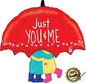 Balão foil Guarda Chuva Just You & Me 84cm Grabo