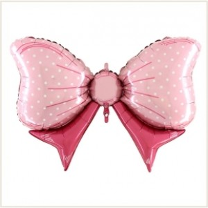 Balão Laço Rosa 109cm Grabo