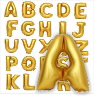 Balões Letras Foil Douradas 38cm