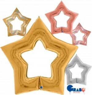 """Balão Foil Estrela Linky Star 48""""/122cm Grabo"""