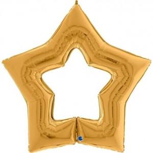 """Balão Foil Estrela Linky Star Ouro 48"""" 122cm"""