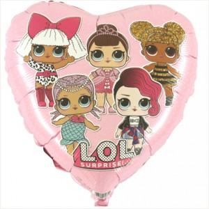 """Balão Foil 18"""" LOL Surprise Rosa"""