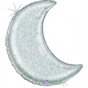 Lua Gigante Prata Glitter 107cm