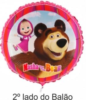 Balão Foil Redondo Masha 45Cm