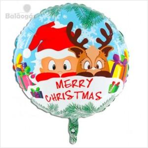 Balão Foil Redondo Merry Christmas 53cm