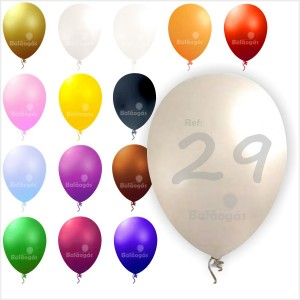 """100 Balões Metalizados 10""""/29cm"""